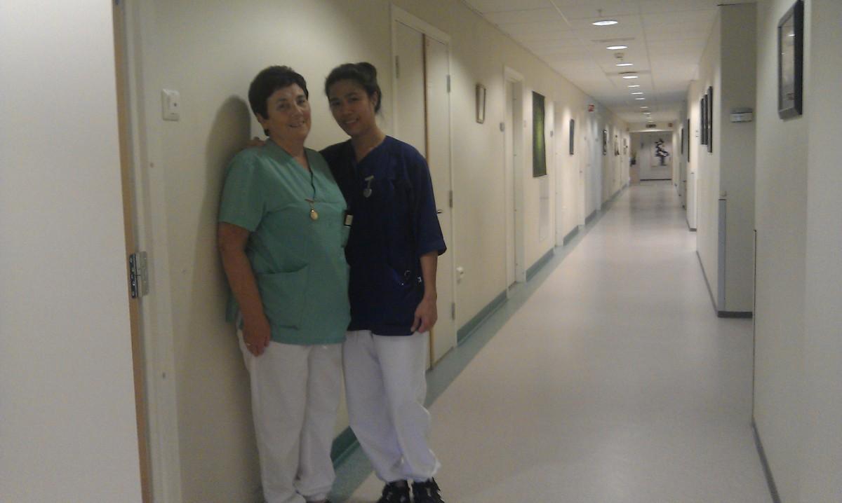 Michelle og Aud representerer noen av mange flotte ansatte på avd. G på Alvehaugen.
